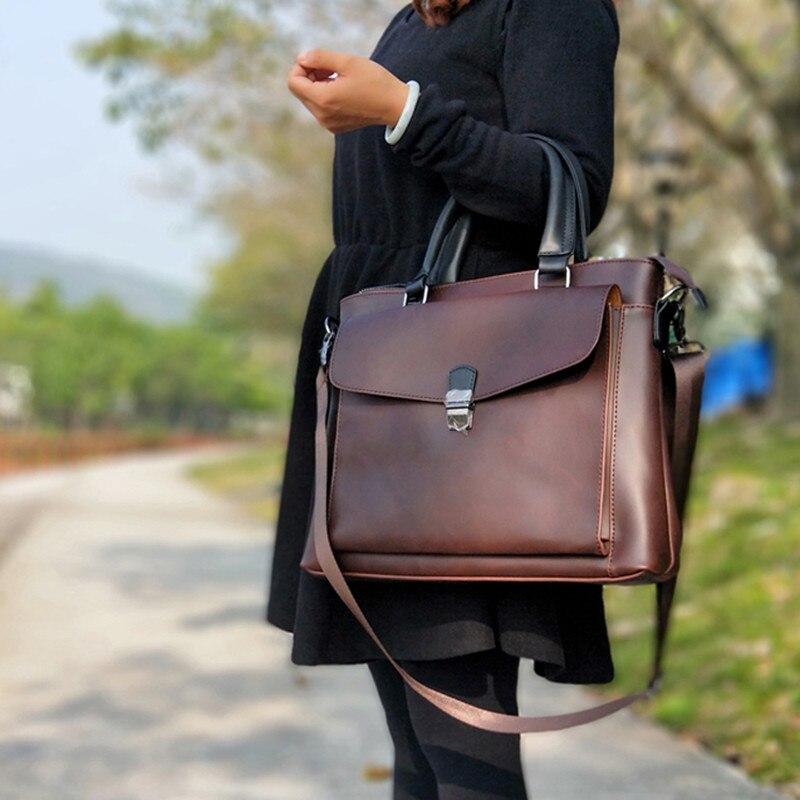 2019 Vintage Women Bag Horizontal Literary Handbag Multifunction 14
