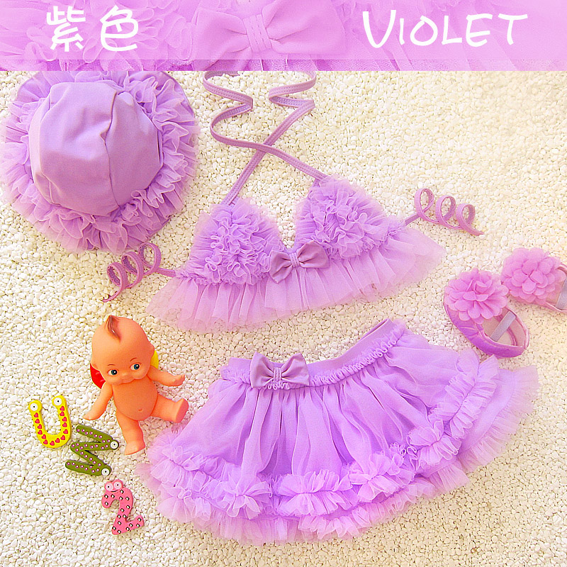 Childrens Swimwear girls Baby bikini kids Swimsuit lot princess Two piece Swimming Suit Grils Sweet Skirt bathing suit Shower