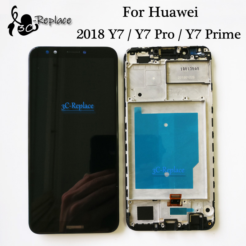 100 Tested For Huawei Y7 2018 Y7 Pro 2018 Y7 Prime 2018 LCD Display Touch Screen 100% Tested For Huawei Y7 2018 / Y7 Pro 2018 / Y7 Prime 2018 LCD Display + Touch Screen Digitizer Assembly Replacement + Frame