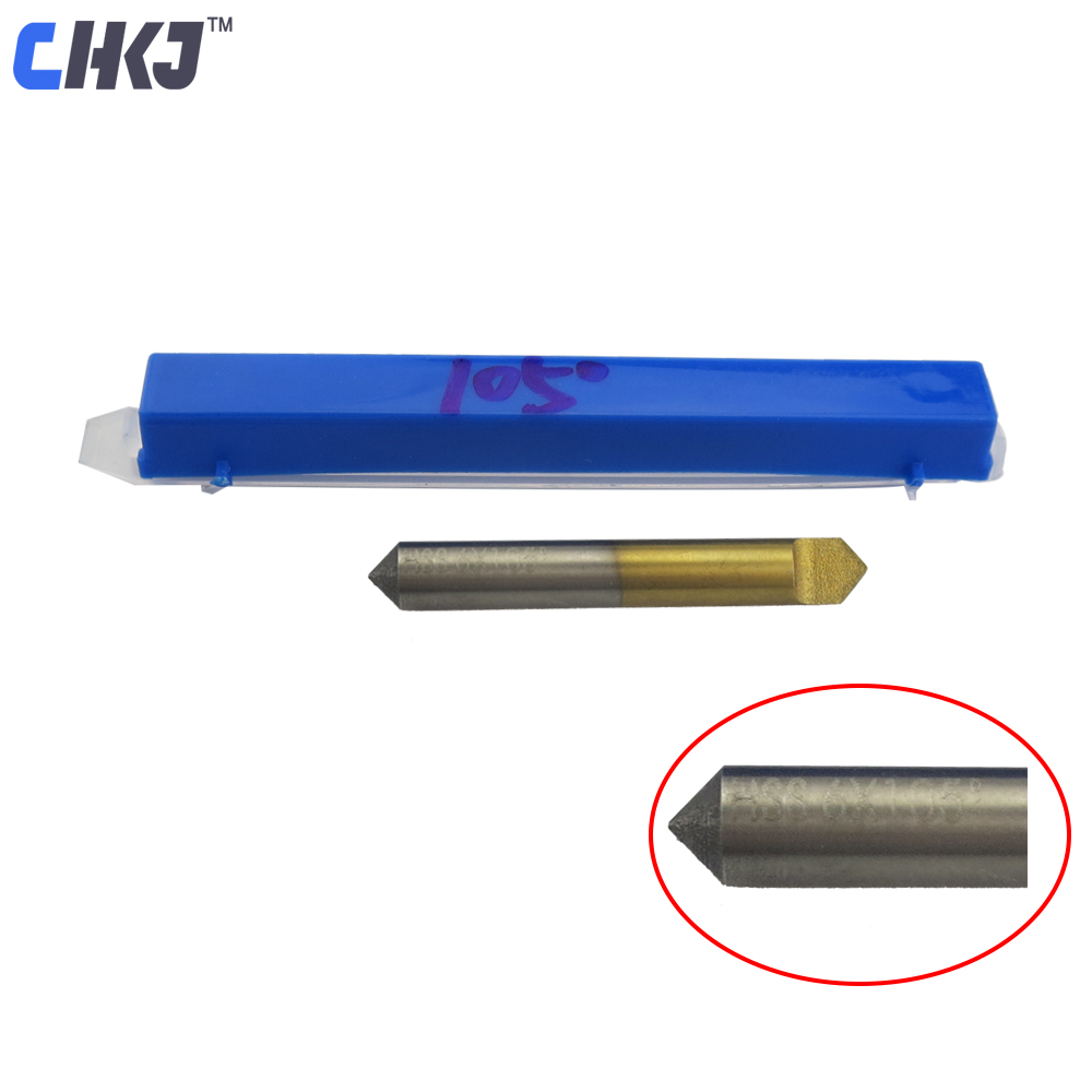 CHKJ Titanium Coated HSS Key Cutter For Milling Machine 105 Degree Cutting Machine Guide Pin Flat Knife Drill Bit Locksmith Tool