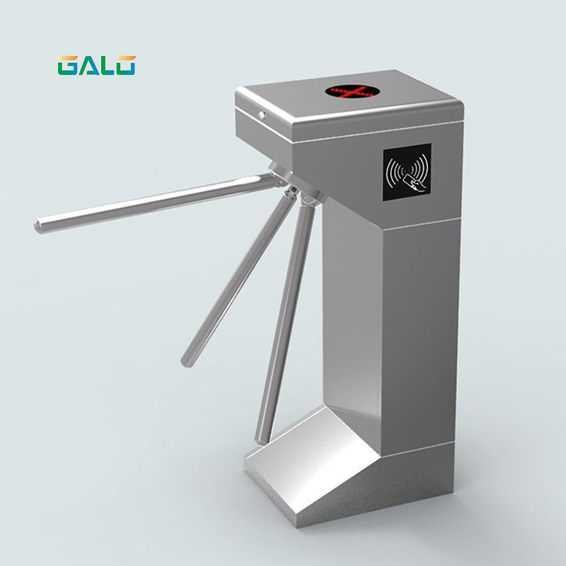 stainless steel solenoid driven tripod turnstile gate barrier for access control system access control system factory price vertical semi automatic tripod turnstile gate