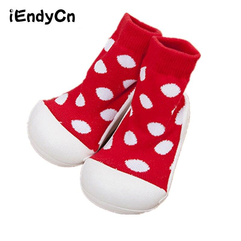 iEndyCn Kidadndy 2017 Naujagimio kūdikių mergaičių berniukų kūdikių grindų kojinės su gumos padais medvilnės neslystančios gumos padengtos YD364MLL