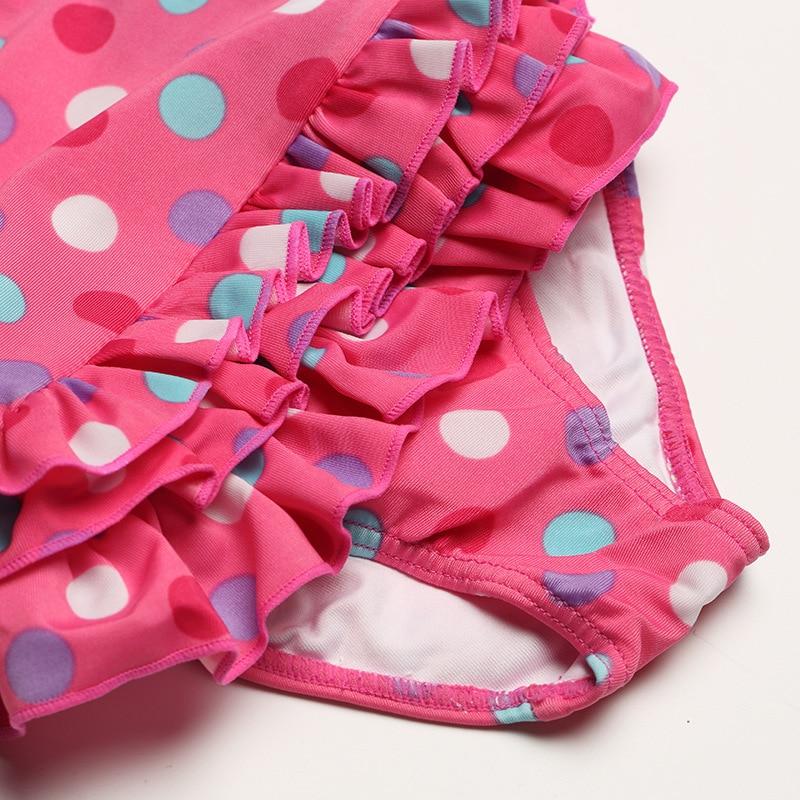 Mioigee 1-2 Year Old Baby Swimwuit One Piece Girls Fashion Dot Print Swimwear 2018 Summer Kid Girls Beach Swim Suit