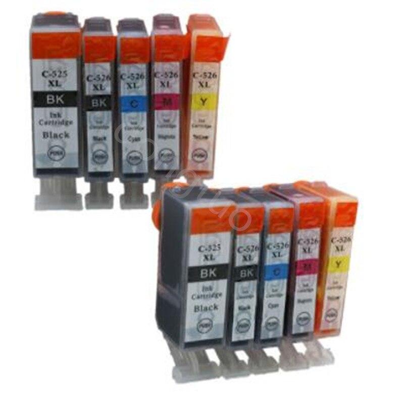 10X PGI 525 CLI 526 iink cartridge for Canon PIXMA IP4850/IP4950 IX6550 MG5150/MG5250 MX715/MX885/MX895 MG5150 MG5250 PGI525