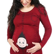 Rendy, женская блузка для беременных и детей, забавная Футболка для беременных, футболка для мам размера плюс 3XL, топы, ropa embarazada@ 30