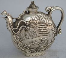 The ancient China palace secret silver Phoenix teapot