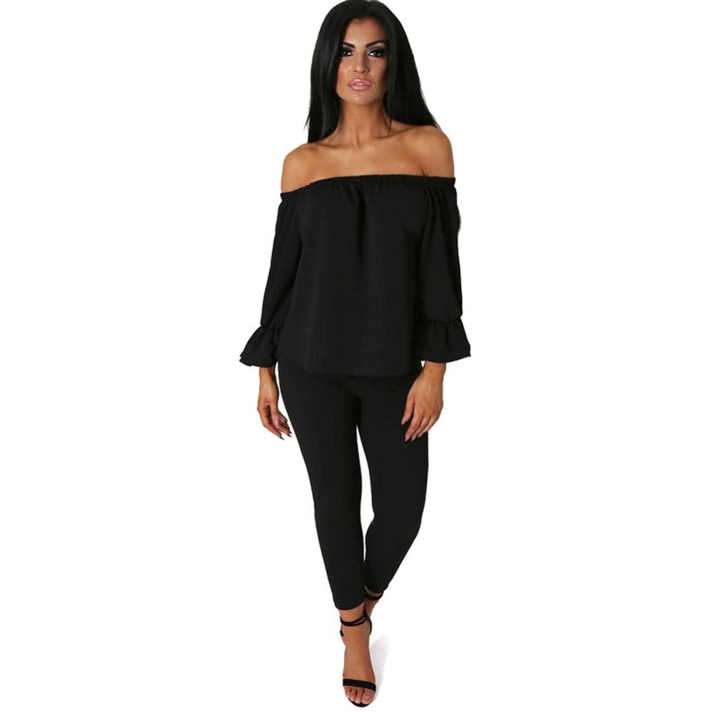 Online Get Cheap Plus Size Off The Shoulder Jumpsuit -Aliexpress ...