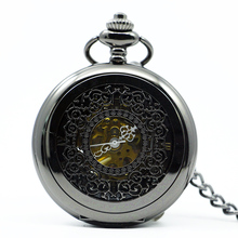 Mechanical Pocket Watch FOB Steampunk Vintage Watches Hand Wind Fashion Skeleton Cool Gear Women Men Victorian Style PJX1213