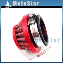 Clearner Dirt-Bike AIR-FILTER Mini Moto Racing 44mm Red for 2-Stroke 47cc 49cc Engine