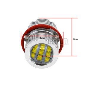 Image 5 - HCDLT שגיאת משלוח LED מלאך עיניים 60 W לבן צהוב אדום כחול מכונית אור עבור B M W E39 E53 E63 E83 x3 E87 X5 E60 120 W LED ערכת סמן