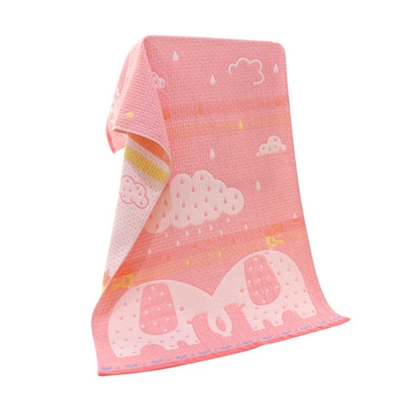 2018 Baby Bath Towel Cotton Three Layers of Gauze Cartoon Bath Towels Absorbent Drying Bath Beach Cloth 70cm*140cm Q1