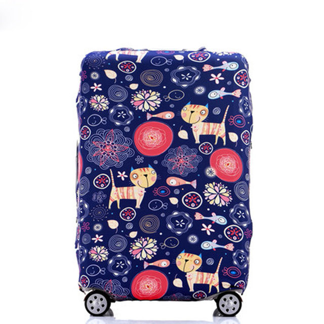 """OKOKC World Map Elastic Thick Luggage Cover for Trunk Case Apply to 18""""-32"""" Suitcase,Suitcase Protective Cover Travel Accessor"""