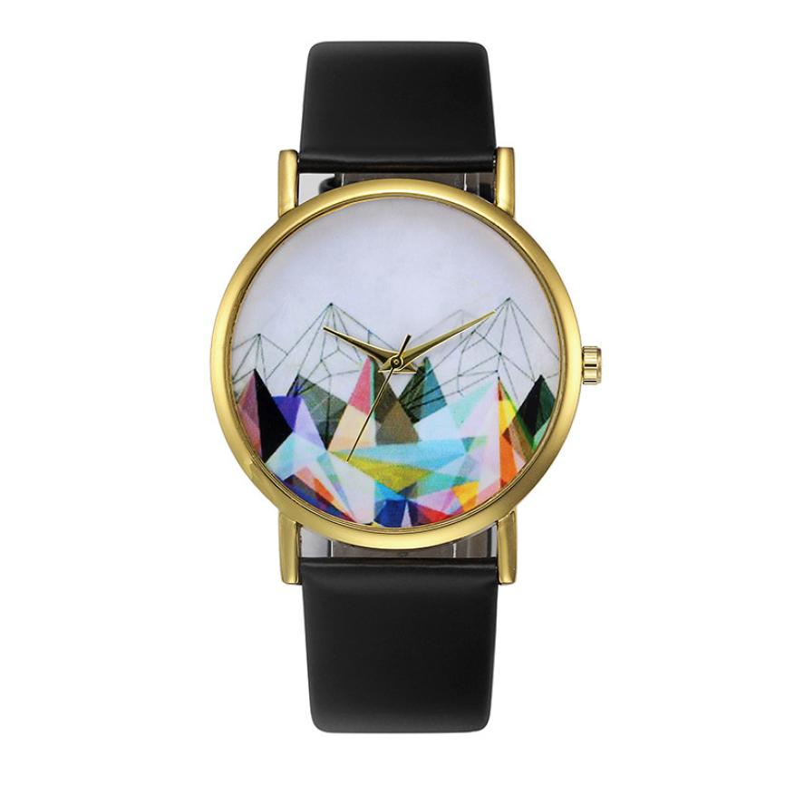 Fashion Womens Retro Design Leather Band Analog Alloy Quartz Wrist Watch M5084