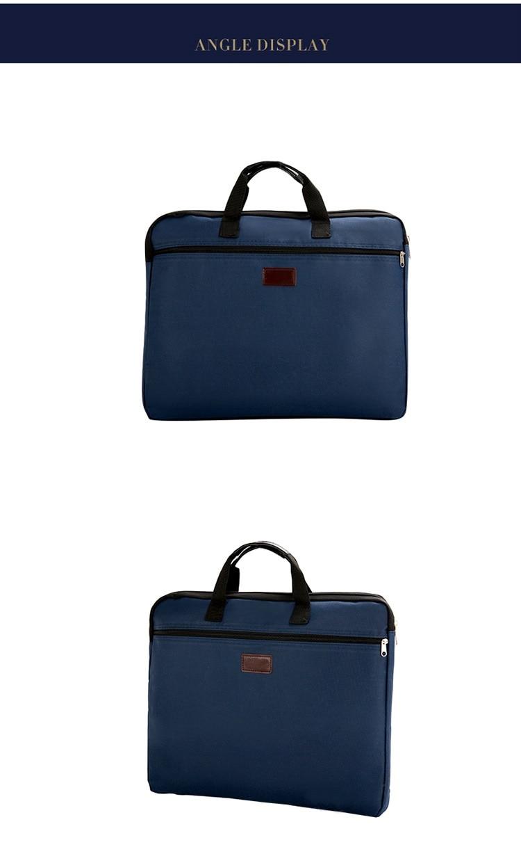 HTB13GXVXUuF3KVjSZK9q6zVtXXah Portable document bag canvas A4 office zipper bag large capacity men women handbag multi-layer information bag briefcase meeting