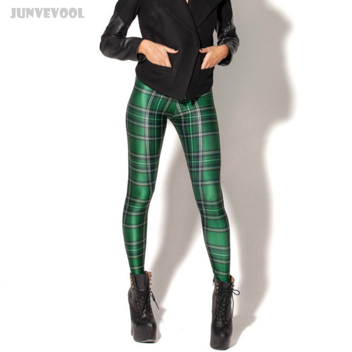 Ankle Legging Green Grip Leggings Womens Stripe Printed Slim Pants Seamless Push Up Sexy Leg Tattoo Trousers 3D Capris Pencil