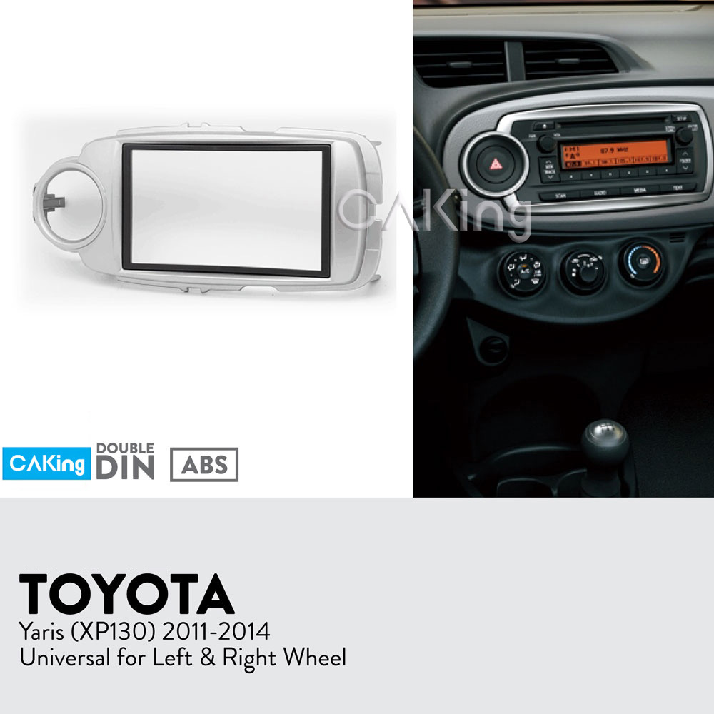 Car Fascia Radio Panel for Toyota Yaris(XP130) 2011 2014 (Left&Right Wheel) Dash Fitting Kit Install Facia Plate Bezel Adapter-in Fascias from Automobiles & Motorcycles    1
