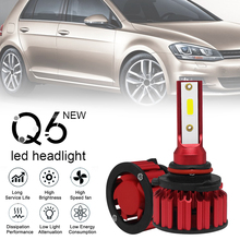 цена на 2pcs car accessories HB3 9005 H10 Q6 12000LM 6000K 120W DOB LED Car Headlight Kit Hi or Lo Light Bulb for Cars Vehicles Auto