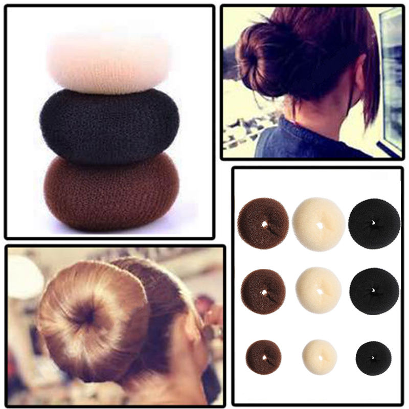 NEW Updo Styling Doughnut Bun Ring Shaper Women Kids Girls Hair Styling Tool