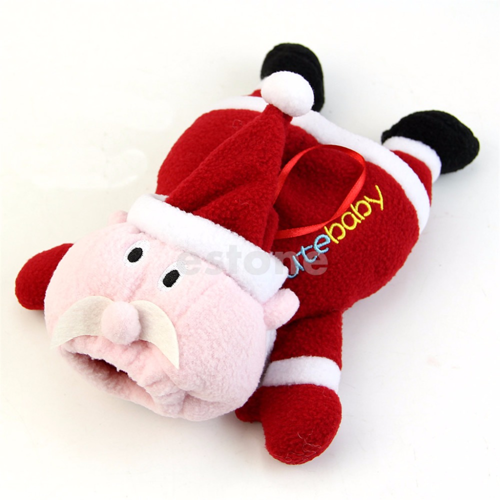 Christmas Cute Baby Feeding Bottle Plush Pouch Covers Nursing Keep Warm Holders Case