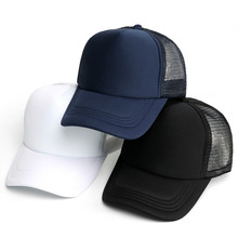 bd9b88c877f 2019 Blank Mesh Hat Caps Men Summer Breathable Snapback Baseball Cap mesh  Women Fashion Black Trucker
