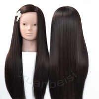 Braun Haar Kopf Puppen Für Flechten Synthetische Mannequin Kopf Frisuren Weibliche Mannequin Friseur Maniken Ausbildung Kopf