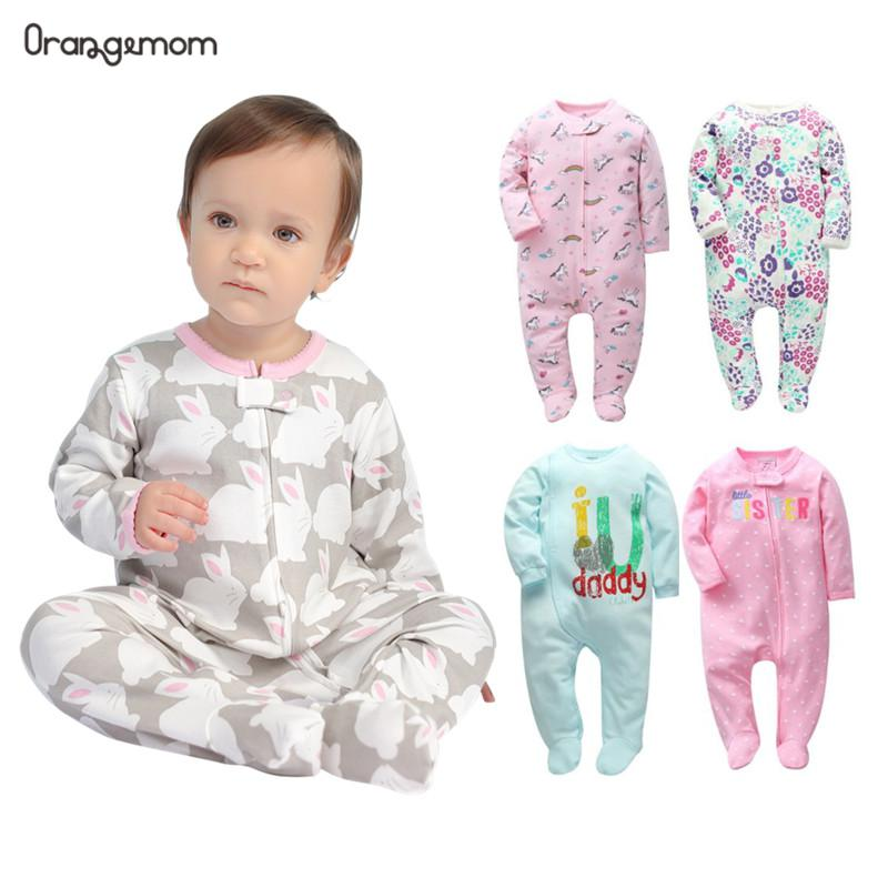 Brand orangemom official store baby romper cartoon jumpsuits cotton newborn girl clothes  Pajamas for babies