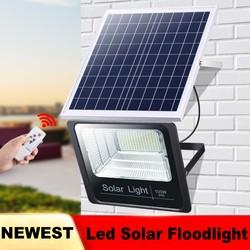 1pc 25W 40W 60W 100W Outdoor Reflektor Fernbedienung Solar Power Led Flutlicht Panels Für garten Flutlicht Scheinwerfer Bouwlam