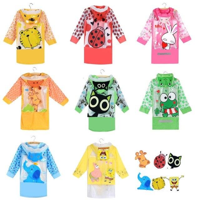Raincoat for Children Cartoon Kids Girls boy rainproof Rain Coat Waterproof Poncho Rainwear Waterproof Rainsuit Raincoat YY234-1