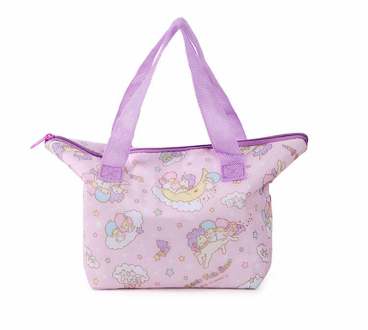 ... Cute Hello Kitty Little Twin Stars Insulated Lunch Box Tote Bags for Women  Girls Kids School ... 31cd98d25b161