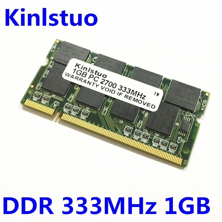 Free shipping 100% original notebook/laptop memory RAM <font><b>DDR</b></font> 333 <font><b>1Gb</b></font> PC-2700 computer memory compatible with 266/<font><b>400</b></font> image