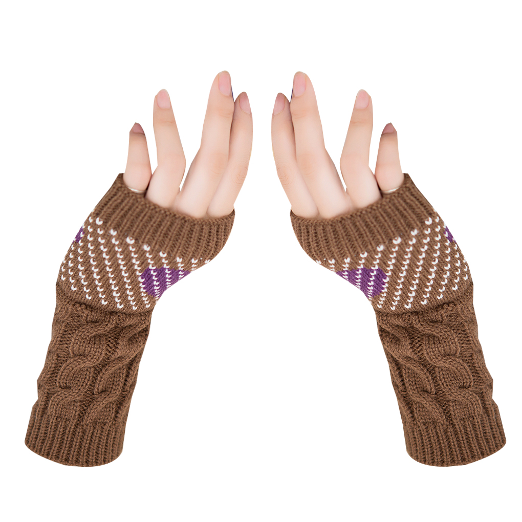 1 Pair Winter Autumn Christmas Heart Typing Gloves Women Girls Arm Wrist Warmer Sleeves Winter Autumn Mittens