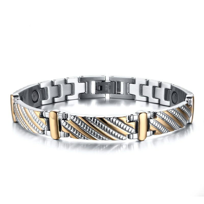 Adjustable Magnetic Therapy Bracelet 2019 Fashion Stainless Steel Magnetic Bracelet Pain Relief for Arthritis and Carpal TunnelAdjustable Magnetic Therapy Bracelet 2019 Fashion Stainless Steel Magnetic Bracelet Pain Relief for Arthritis and Carpal Tunnel