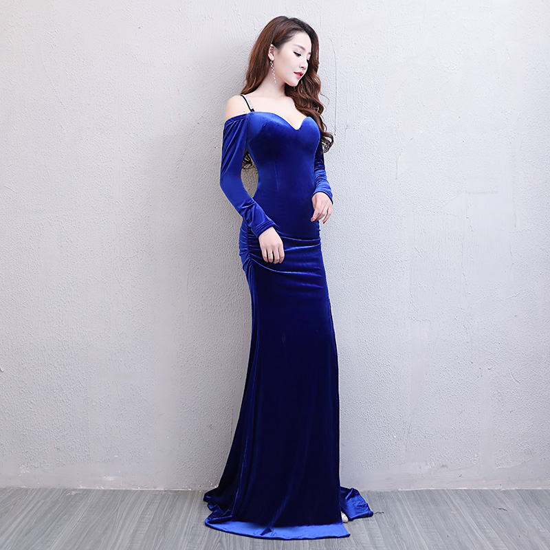 Floor Length Full manual Sexy Star full Prom Evening dresses 2018 Cocktail  dress Night entertainment venue dress L17212-in Celebrity-Inspired Dresses  from ... 76a67c1d957a