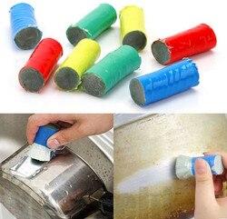 Волшебная палочка из нержавеющей стали, 2 шт., очистка от загрязнения, металлическая щетка для удаления ржавчины, чистящая палочка, щетка для...
