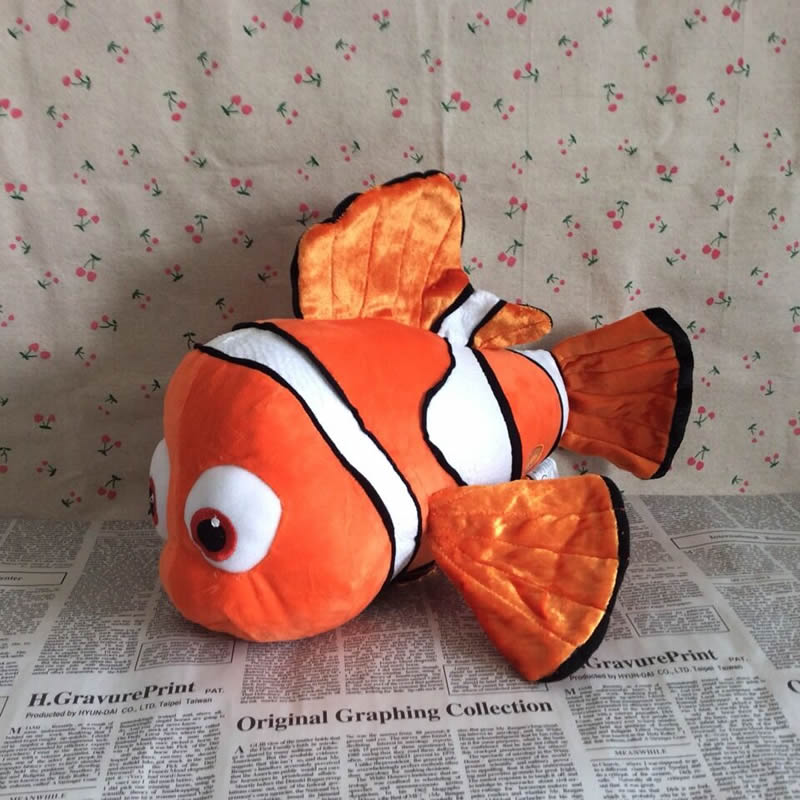 Free Shipping 40cm=15.7 Inch Original Finding Nemo Stuffed Animal Plush Soft Toy Giant Nemo Fish Doll for Children Brinquedos