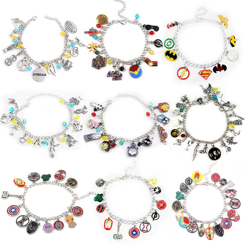 The Avengers Charms Bangle Bracelet The Little Prince RIVERDALE My Neighbor Totoro Bracelets For Women Girl Souvenir Accessories