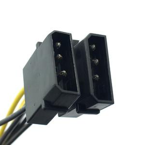 Image 3 - VKWIN câble adaptateur dalimentation double IDE Molex 4 broches vers 8 broches (6 + 2 broches) mâle vers carte graphique mâle, PCI E