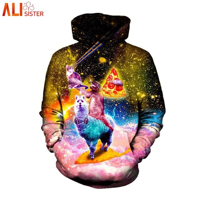 Fine Raisevern Dinosaur Sloth Galaxy Euro Size Men Hoodies Sweatshirts 3d Print Zipper Sweatshirts Cap Tops Men Hooded Nebula Jacket Hoodies & Sweatshirts