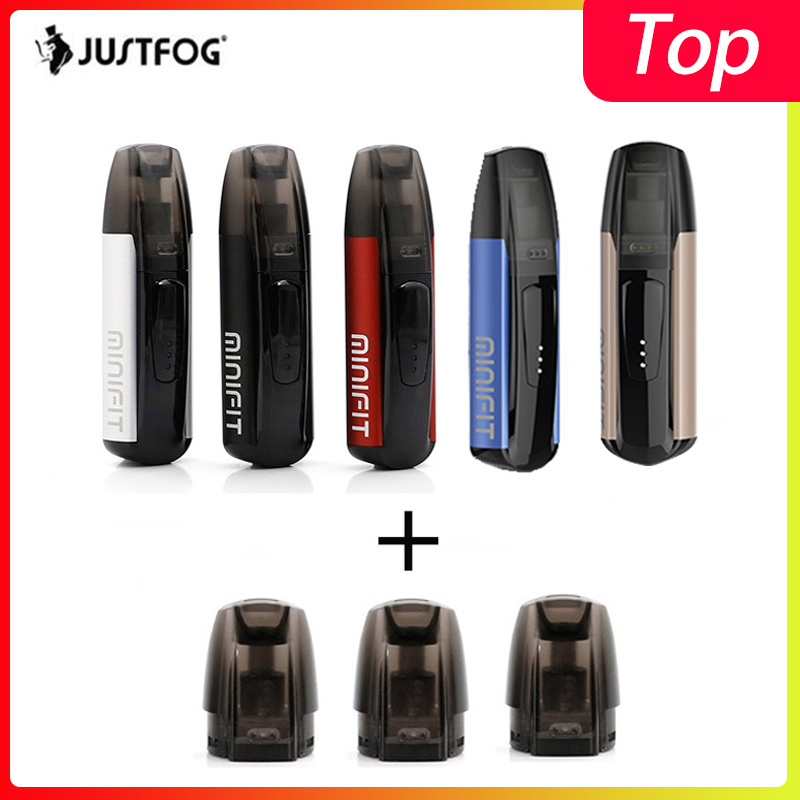 Kit de démarrage Original Justfog minifit 370mAh kit de vapotage tout en un comme justfog q16 avec dispositif de vapotage à batterie compacte MINIFIT