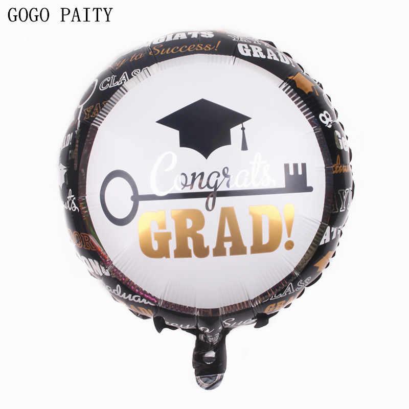GOGO PAITY Gratis verzending college graduation ceremony aluminium ballon ballon afstuderen certificaat vormige ballon