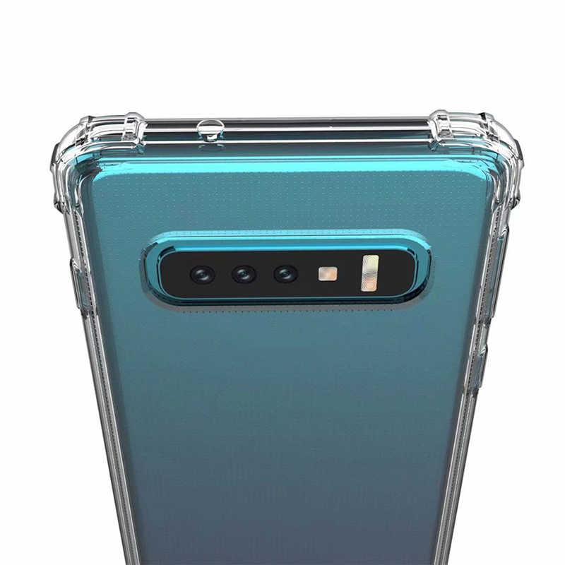 Samsung S10E Temizle Yumuşak Silikon Samsung kılıfı Galaxy S10 S9 S8 Artı Not 8 9 M10 M20 A6 A8 Artı a7 2018 Darbeye Dayanıklı Kapak