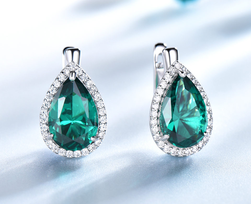 UMCHO-Emerald-925-sterling-silver-clip-earrings-for-women-EUJ087E-1-PC_03