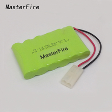 MasterFire 4PACK/LOT New Original 7.2V 1800mAh 6x AA Ni-MH RC Rechargeable Battery Pack for Helicopter Robot Car Toys with Plugs