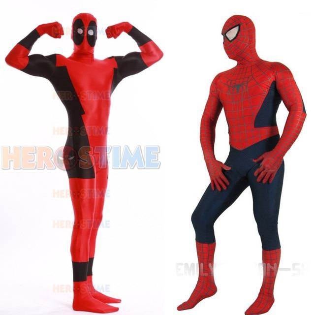 High Quality Mens Superhero Costumes Spiderman/Deadpool/Superman Cosplay Costume Adult/Kids Zentai  sc 1 st  AliExpress.com & High Quality Mens Superhero Costumes Spiderman/Deadpool/Superman ...