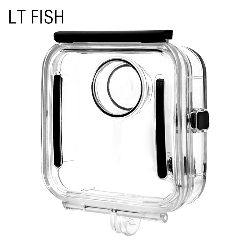 LT FISH for Go pro Waterproof Housing Case Backdoor Cover Diving 40M for gopro Fusion HD Camera Transparet gopro bacpac backdoor kit for standart housing