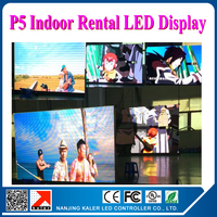 rental led video wall p5 indoor 1/8 scan 2000 2500cd p5 led display alumium rental led cabinet for indoor video wall
