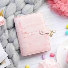 Aglutinante de mármol rosa Lovedoki, cuaderno y diario A6, organizador de planificador en espiral, Agenda 2019, diario, papelería para niñas, suministros escolares