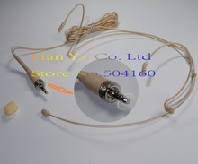 Discurso Bege Headset Microfone Condensador profissional Headworn Microfone para Sennheiser Sem Fio Sistema de 3.5mm Parafuso Jack Mic
