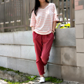 2017 летняя мода женщин V-образным Вырезом с коротким рукавом в полоску повседневная Футболка хлопок вмс тройники