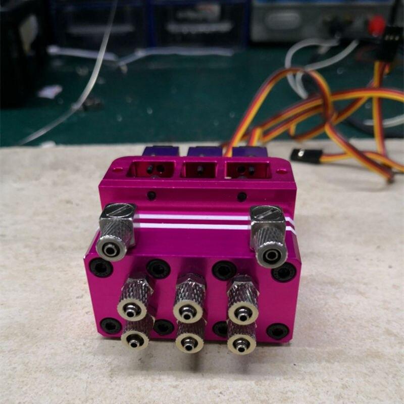 Oyuncaklar ve Hobi Ürünleri'ten Parçalar ve Aksesuarlar'de 3CH Hidrolik Valf Parçası Kamyon Damperli Damperli Yükleyici 1/14 RC Model parçaları'da  Grup 1